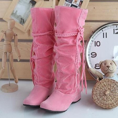 Comfortable Casual  Flat-boot Flat Boots from stylishplus.com
