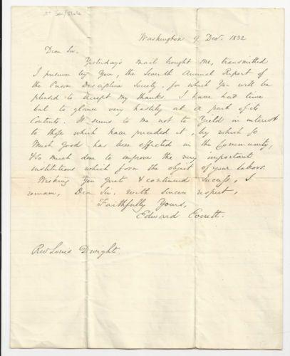 1832 Ltr Edward Everett Famed Mass Gov Congressman Sec of State Prison Reform | eBay