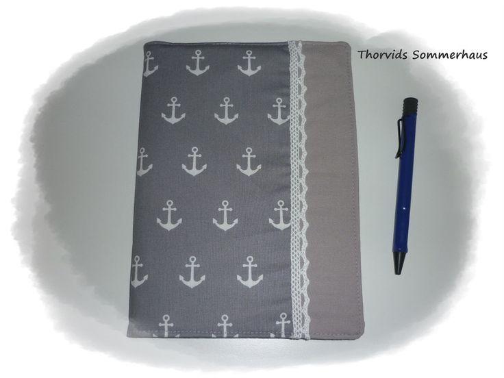 Buchhüllen -  Umschlag Notizbuch,Timer, Buch DIN A5 - ein Designerstück von Thorvids-Sommerhaus bei DaWanda