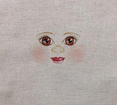 Rosto de boneca de pano: como fazer...se eu não sei?