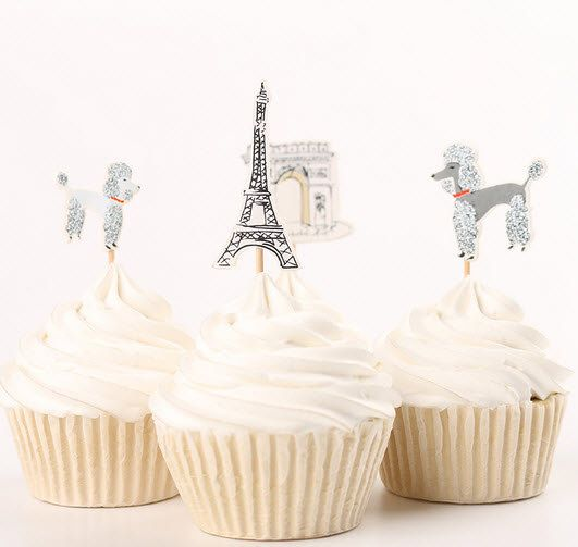 Cup Cake Toppers Mottoparty Paris