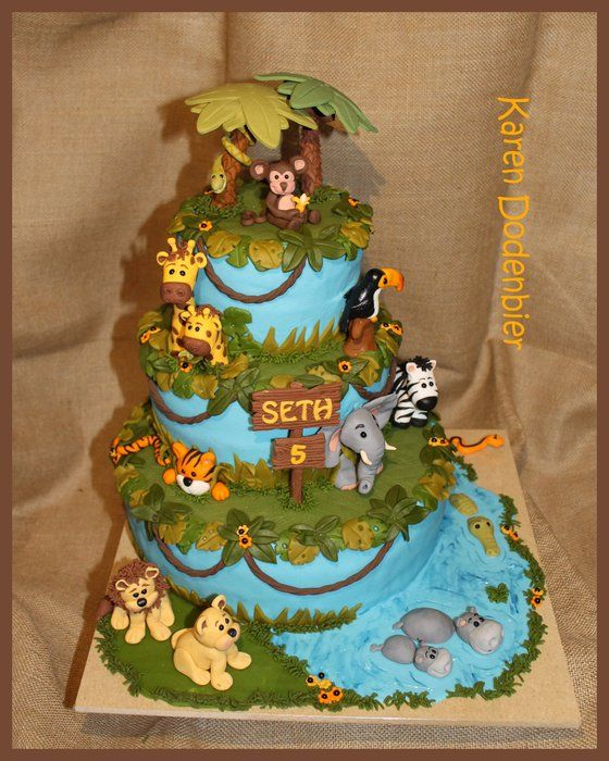 Deep in the jungle.... - by dutchcakes @ CakesDecor.com - cake decorating website