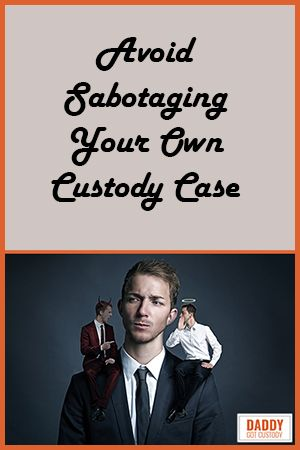 While working to gain child #custody, you will make mistakes, probably more than your share. Some seem worse than they are, you can recover. But too many custody-seeking #dads sabotage their custody case, and just one negative comment, one moment of a lost temper, and your efforts can be torpedoed.  Click Pic to Read More... (http://DaddyGotCustody.com)