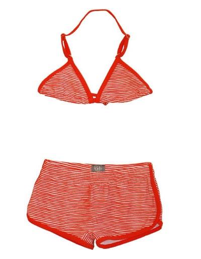 Rood wit gestreepte bikini - Kidscase