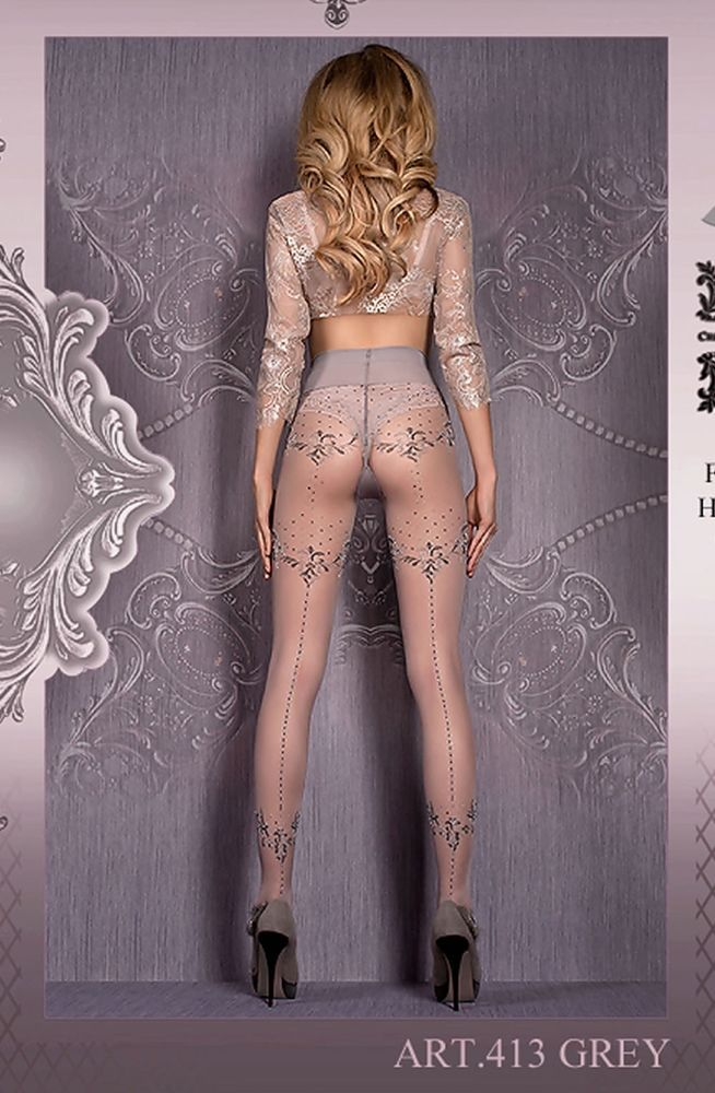Shop for #lingerie : Grey Tights Hosiery Womens Lingerie Ballerina 413 UK STOCK + FREE SHIPPING by weeabootique.