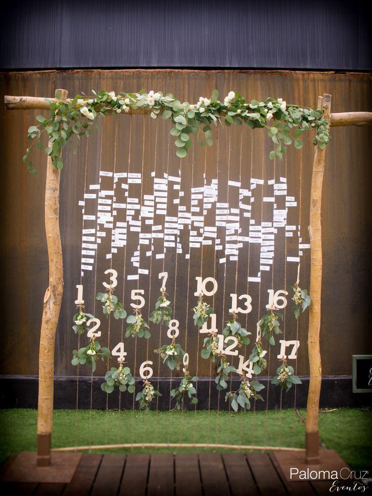 Sorprende a tus invitados con este original seating plan. #seatingplan #wedding