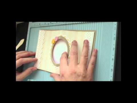 Tunnel Card Tutorial Video by Beate Johns at Splitcoast Stampers using Sew Nice Clear Art Stamp Set by Crafty Secrets