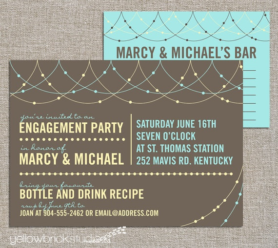 47 best stock the bar shower images on pinterest | couple shower, Party invitations