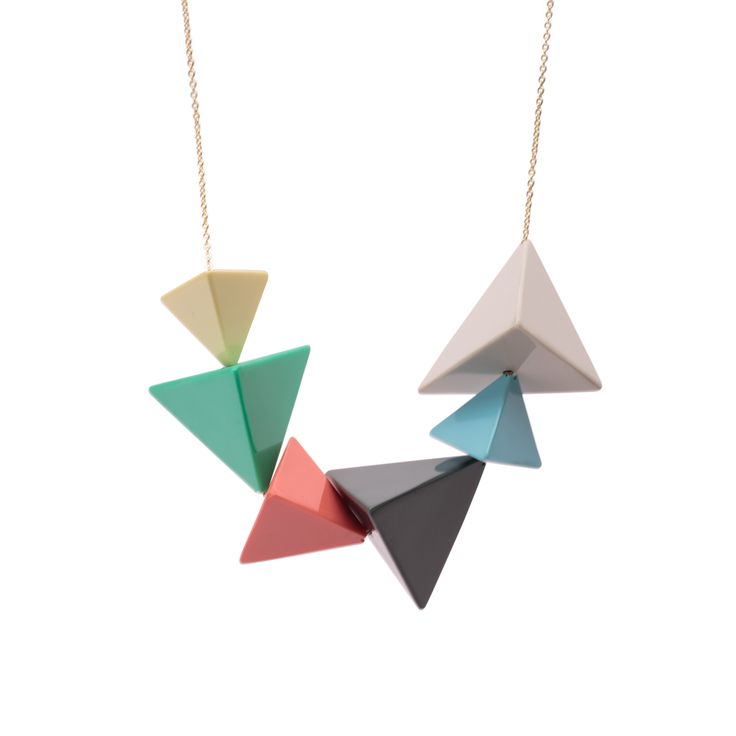 Buy the Luxe Pyramid Necklace at Oliver Bonas. Enjoy free worldwide standard delivery for orders over £50.