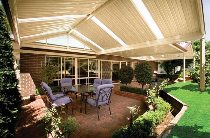 Gable stratco outback verandas pergolas patios for Gable patio designs