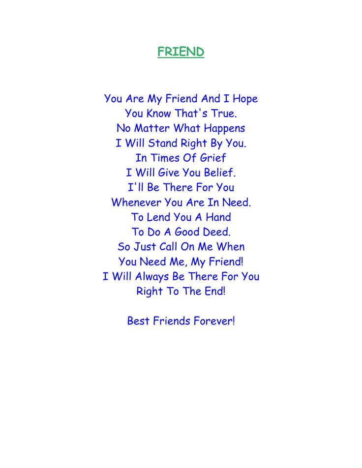 Best friend (DOC)   Rhyming quotes, Friends quotes