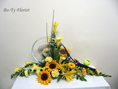 Flower Arrangemenet And Another For The Tennis Fan