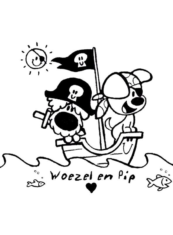 Woezel En Pip Zwart Wit Voor Kleding Pinterest