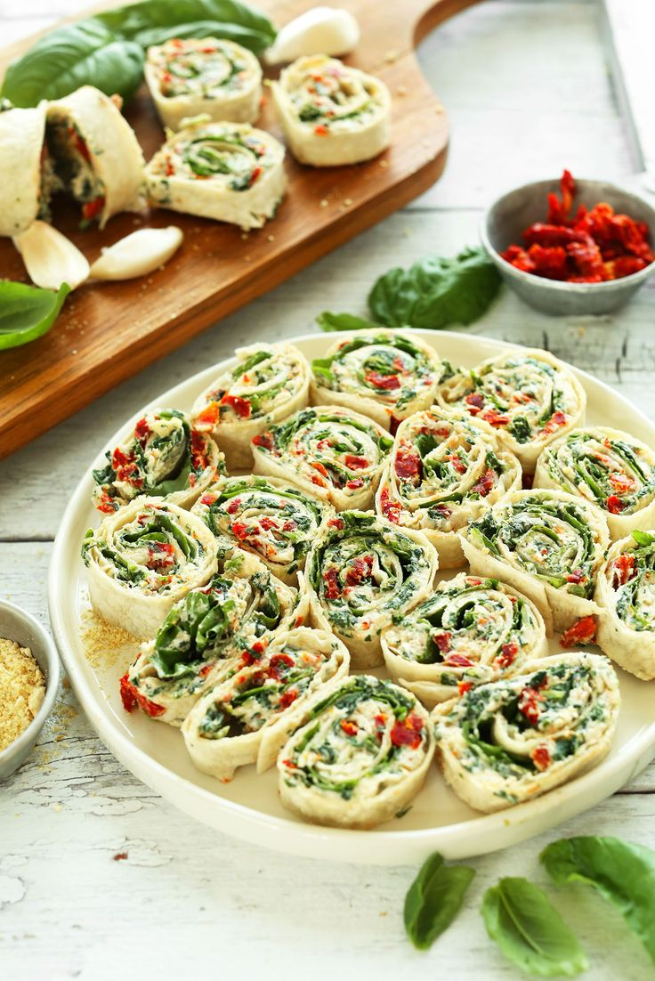 Sun-dried Tomato and Basil Pinwheels from @minimalistbaker