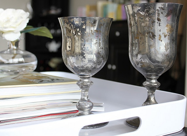 DIY Mercury Glass by Kelley Maria via lovelylittledetails
