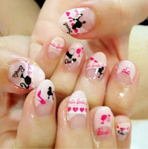 186 best nail art designs for beginners images on pinterest cute barbie nail art by littlestarartist on deviantart prinsesfo Choice Image