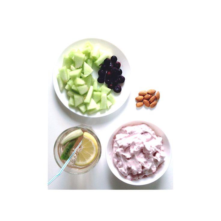 Proteinfluff og frugt