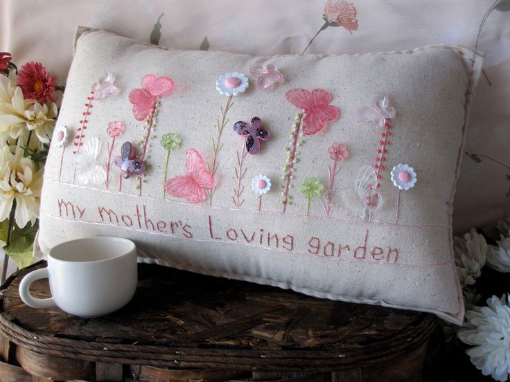 My Mothers Loving Garden Pillow (Cottage Style