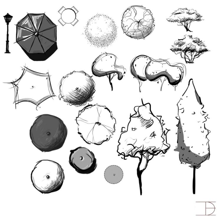 landscape architecture brushes by burn the remembrancedeviantartcom on deviantart - Architecture Drawing Of Trees