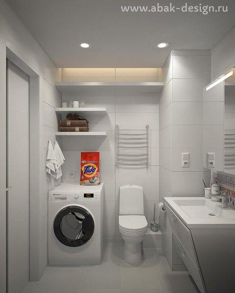 Готовые дизайн-проекты квартир в домах серии П-44Т - Однушка левая - Санузел 3,6 м2