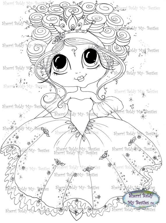 Instant Download Digital Digi Stamps Big Eye Big Head Dolls Bestie New Bestie Scann009 Fairy Princess My Besties By Sherri Baldy Desenhos Para Pintar Desenhos P Pintar E Desenhos Para Colorir