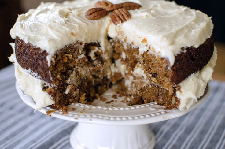 The best carrot cake recipe that I've ever had. Moist and flavorful with amazing cream cheese frosting.