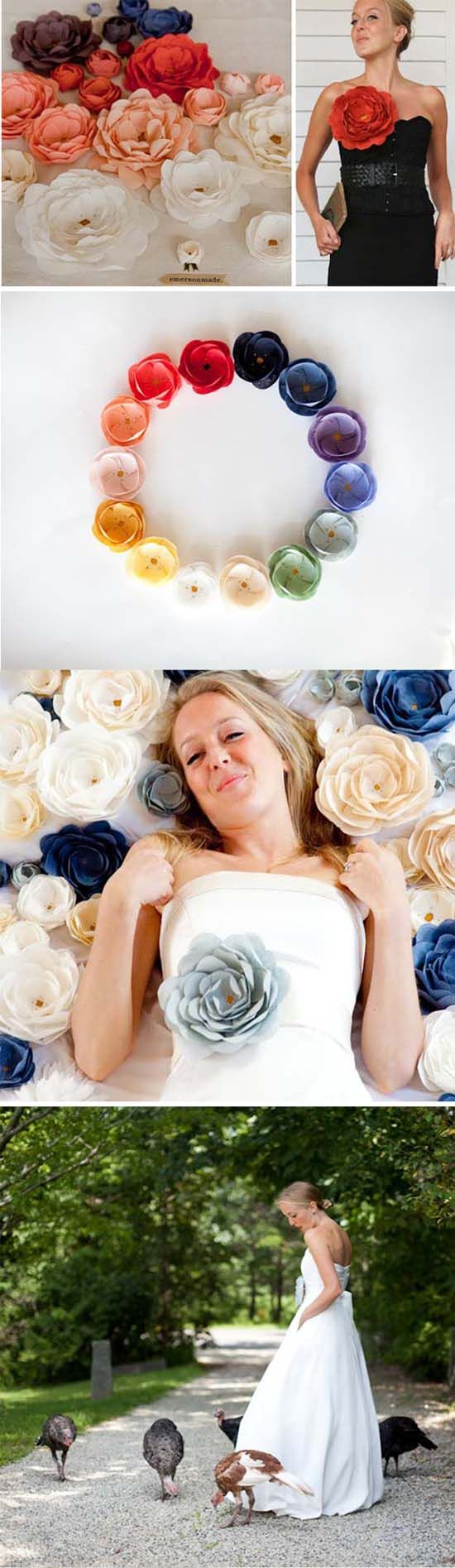 love these emerson made flowers: Paper Flowers Crafts, Diy Flowers, Flowers Mania, Handmade Flowers, Fabrics Flowers
