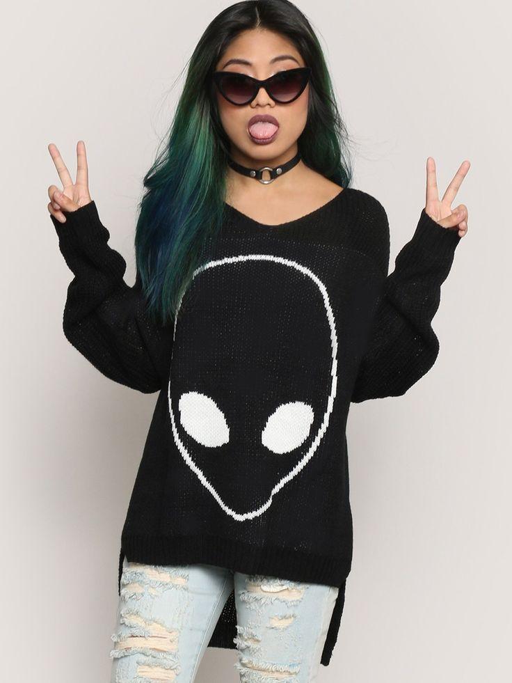 Alien Sweater - Gypsy Warrior