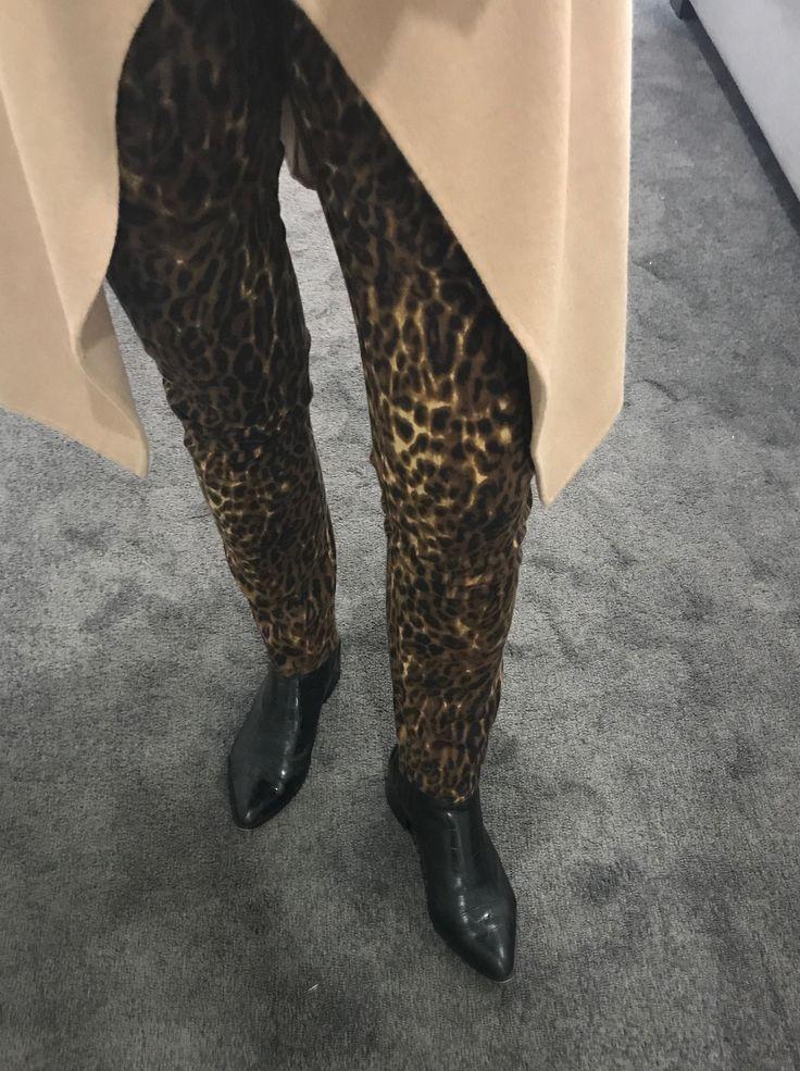 Ezibuy Leopard Print Jeans and Mollini Croc boots.