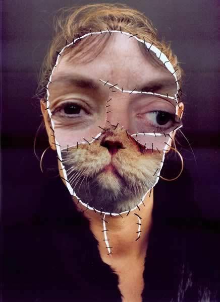 """© Annegret Soltau, """"Grima mit Katze"""", 1989"""