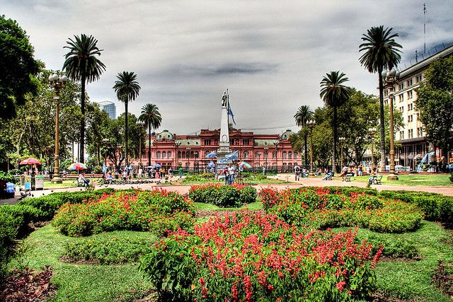 The Plaza de Mayo is the main square in the Monserrat barrio of central Buenos Aires, Argentina.