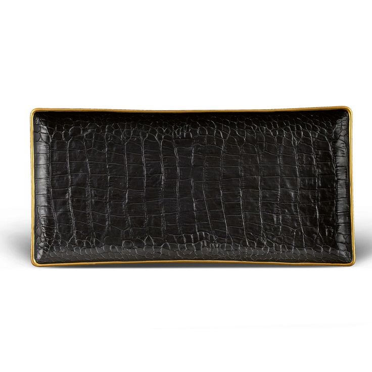 Experience the crocodile rectangular tray medium at lobjet time honored techniques and ageless design