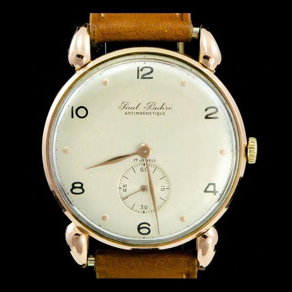 Paul Buhre-Vintage or rose 18k 33mm, manuel. Disponible immédiatement sur notre site: http://www.joaillerie-royale.com/114-montres-vintage