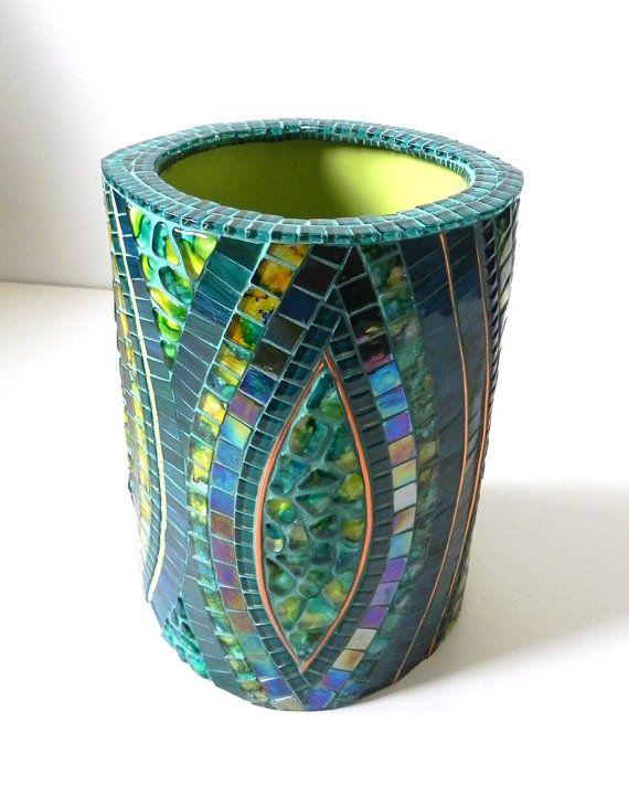 Mosaic Art Large Stained Glass Mosaic Vase on by NewArtsonline