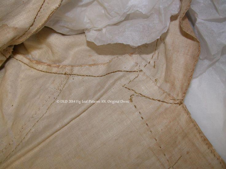 Armscye construction of original gown c. 1770s.  Sumter County Museum, SC