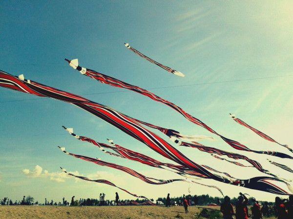 Look at  how huge these kites are! Sanur