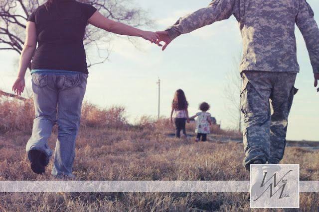 Black Little Button: A Military Family Photography Session