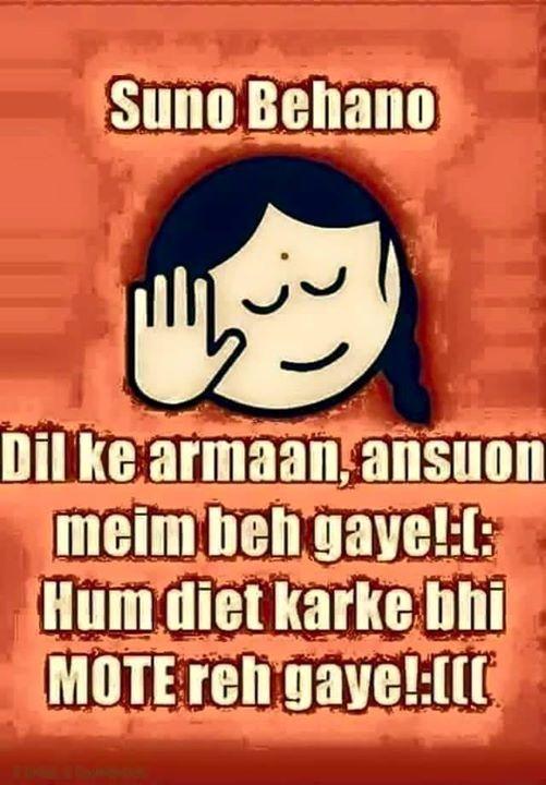 Hahahaha ..... Haw haee :) lakin main shuru se hi patli hoon :)
