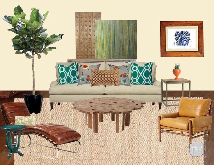 Jennifer Bishop Design-Mood Board, Teal, Green, Copper2
