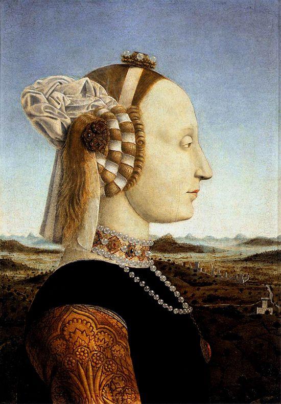 Portrait of Battista Sforza,1465-70 by Pierro della Francesca