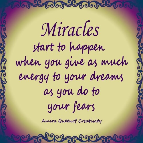 Motivational Inspirational Quotes: .Miracles Do Happen! ...