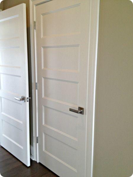 five panel doors with handles