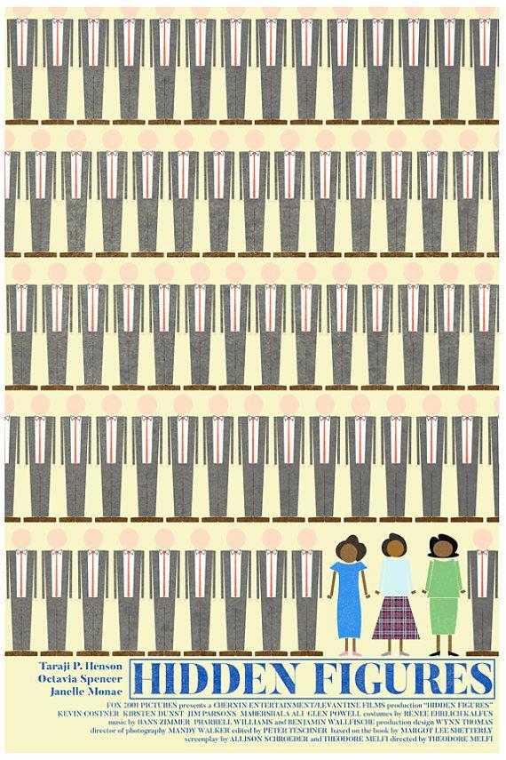Hidden Figures (2016) ~ Minimal Movie Poster by Theodore Melfi #amusementphile