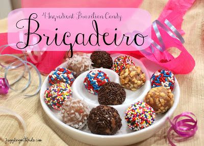 """previous pinner writes: """"...delicious candies that are quite easy to make, delicious and better yet only 4 ingredients!!!  These are very popular with the kids in Brazil and can be found at birthday parties. ...you won't be disappointed. :)  """""""