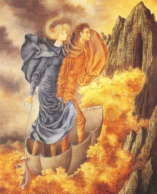 Remedios Varo,  The Escape Fine Art Reproduction Oil Painting