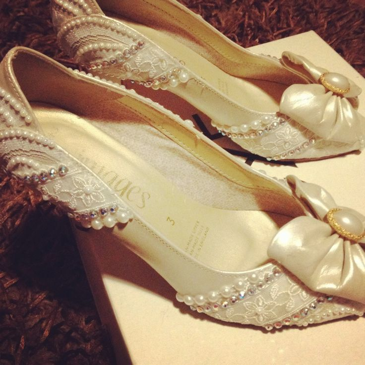 Alternative 10th Wedding Anniversary Gifts : Alternative wedding shoes vintage lace inspired. Custom made by ...