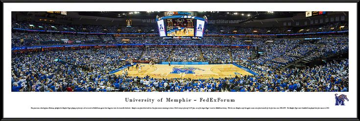 Memphis Tigers Panoramic - FEDEXFORUM Picture $99.95