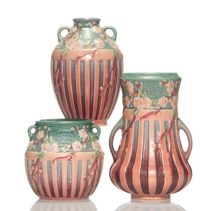 Humler Amp Nolan Roseville Pottery Cherry Blossom Blue Roseville Pottery Pinterest