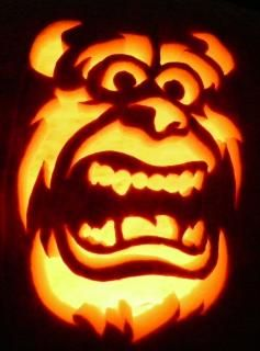 22 best monster inc pictures images on pinterest disney for Sully pumpkin template