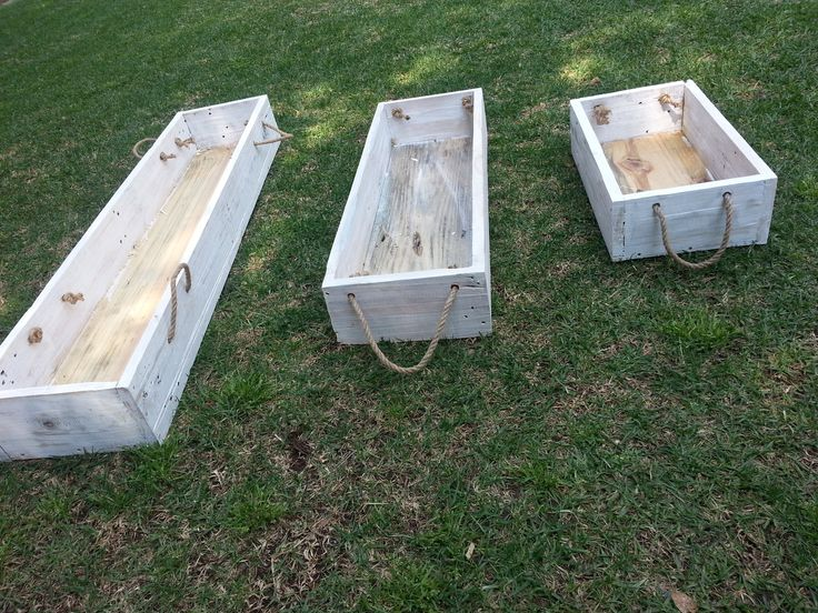 Parys Rustic decor - White washed planter boxes